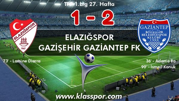 Elazığspor 1 - Gazişehir Gaziantep FK 2
