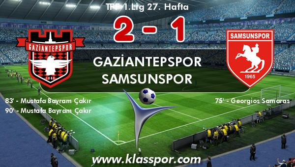 Gaziantepspor 2 - Samsunspor 1