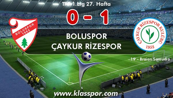 Boluspor 0 - Çaykur Rizespor 1