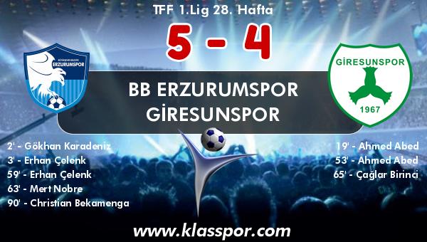 BB Erzurumspor 5 - Giresunspor 4