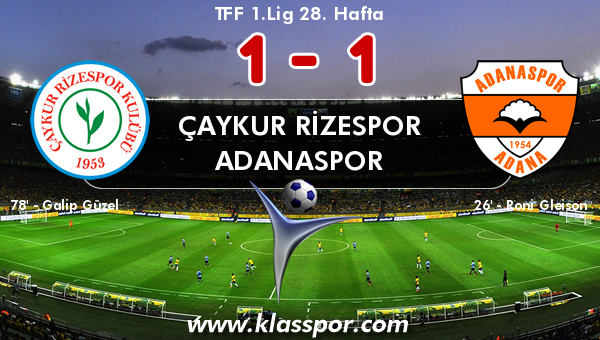 Çaykur Rizespor 1 - Adanaspor 1