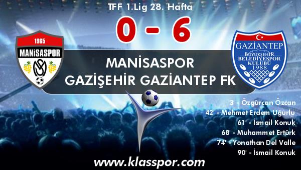 Manisaspor 0 - Gazişehir Gaziantep FK 6