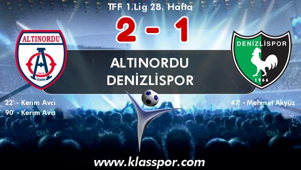 Altınordu 2 - Denizlispor 1