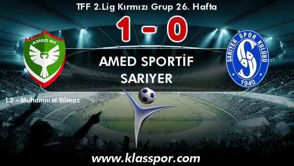 Amed Sportif 1 - Sarıyer 0
