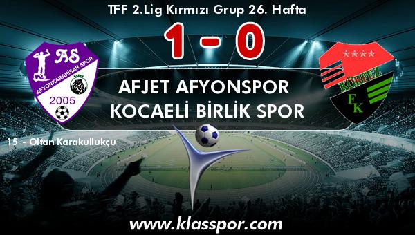 Afjet Afyonspor  1 - Kocaeli Birlik Spor 0