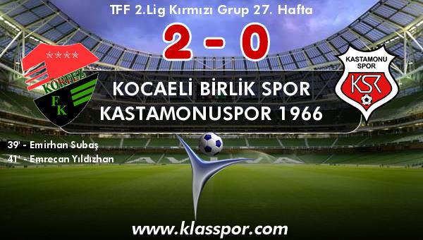 Kocaeli Birlik Spor 2 - Kastamonuspor 1966 0