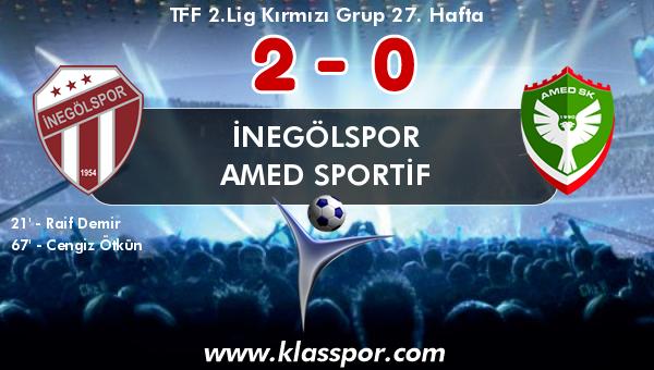 İnegölspor 2 - Amed Sportif 0
