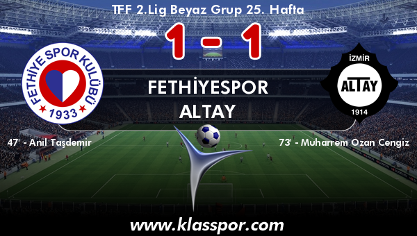 Fethiyespor 1 - Altay 1