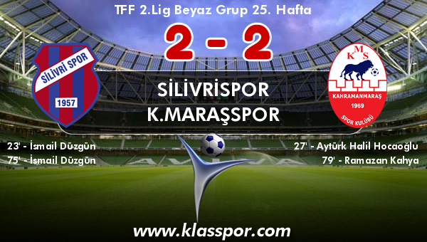 Silivrispor 2 - K.Maraşspor 2