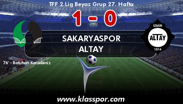 Sakaryaspor 1 - Altay 0