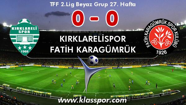 Kırklarelispor 0 - Fatih Karagümrük 0