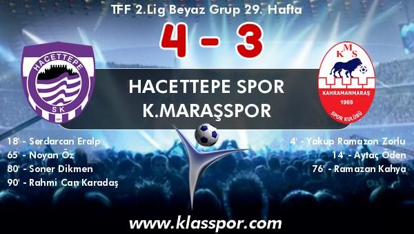 Hacettepe Spor 4 - K.Maraşspor 3
