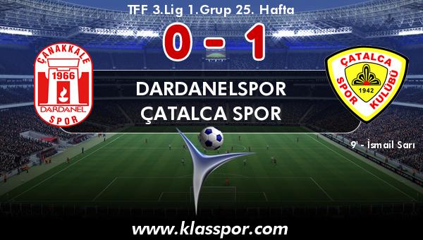 Dardanelspor 0 - Çatalca Spor 1