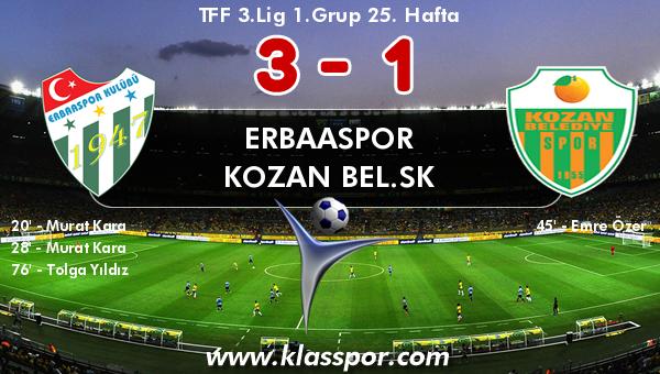 Erbaaspor 3 - Kozan Bel.SK 1