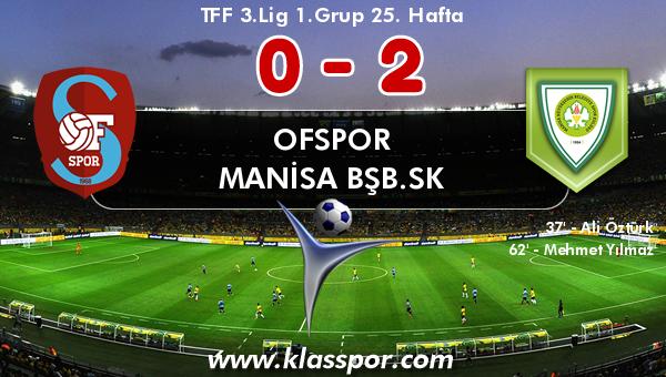 Ofspor 0 - Manisa BŞB.SK 2