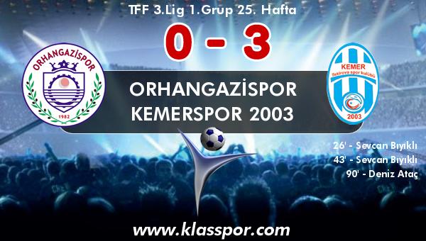 Orhangazispor 0 - Kemerspor 2003 3