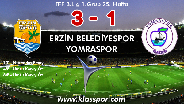 Erzin Belediyespor 3 - Yomraspor 1
