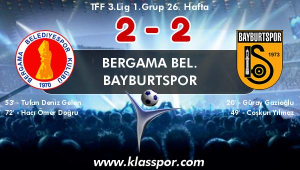 Bergama Bel. 2 - Bayburtspor 2