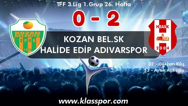 Kozan Bel.SK 0 - Halide Edip Adıvarspor 2