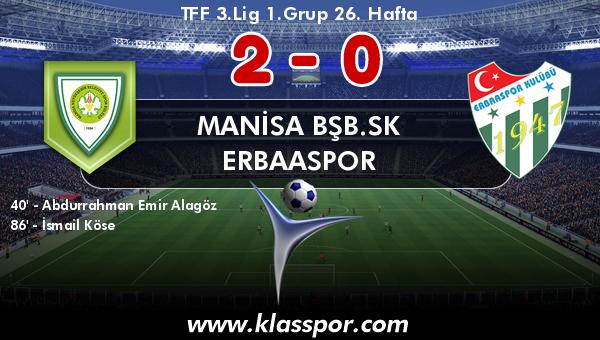 Manisa BŞB.SK 2 - Erbaaspor 0