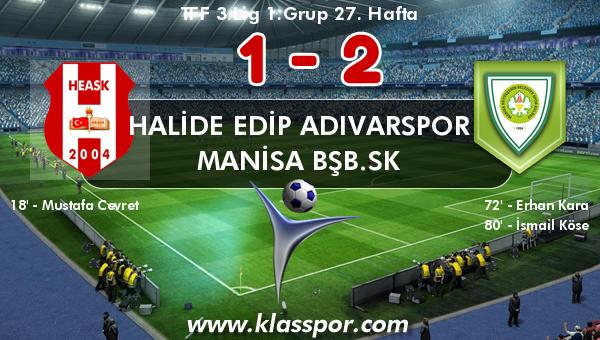 Halide Edip Adıvarspor 1 - Manisa BŞB.SK 2