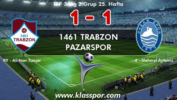 1461 Trabzon 1 - Pazarspor 1