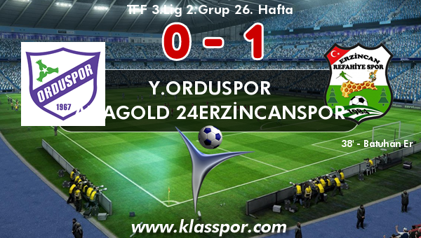 Y.Orduspor 0 - Anagold 24Erzincanspor 1