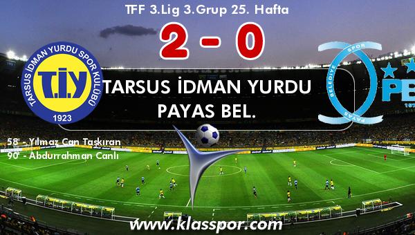 Tarsus İdman Yurdu 2 - Payas Bel. 0