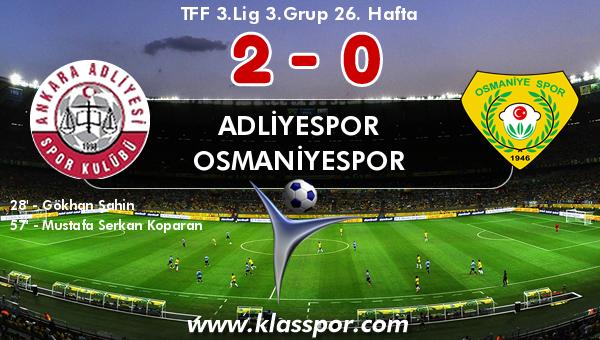 Adliyespor 2 - Osmaniyespor 0