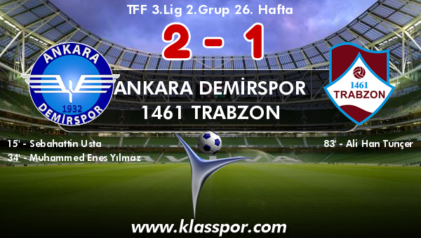Ankara Demirspor 2 - 1461 Trabzon 1