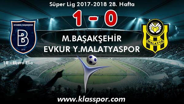 M.Başakşehir 1 - Evkur Y.Malatyaspor 0