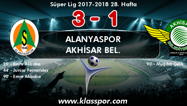 Alanyaspor 3 - Akhisar Bel. 1