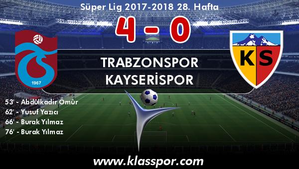 Trabzonspor 4 - Kayserispor 0