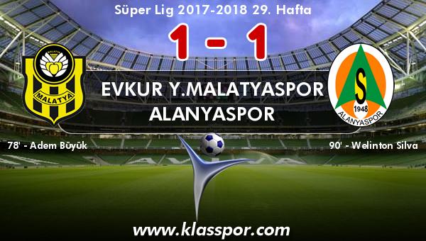 Evkur Y.Malatyaspor 1 - Alanyaspor 1