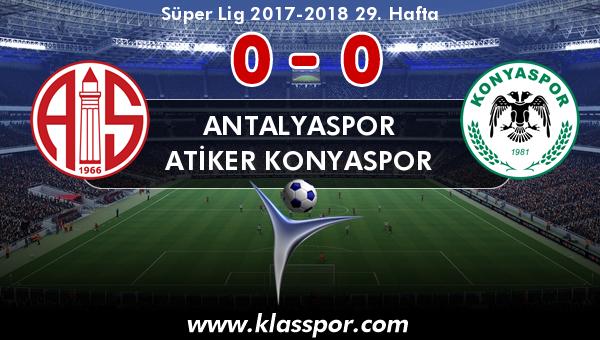 Antalyaspor 0 - Atiker Konyaspor 0