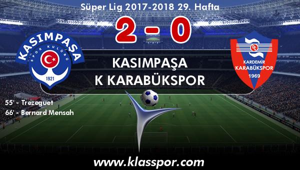 Kasımpaşa 2 - K Karabükspor 0