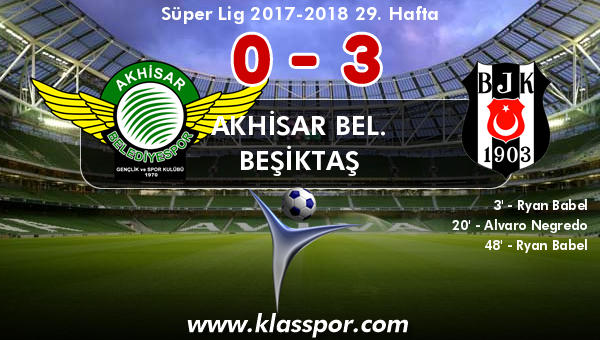 Akhisar Bel. 0 - Beşiktaş 3