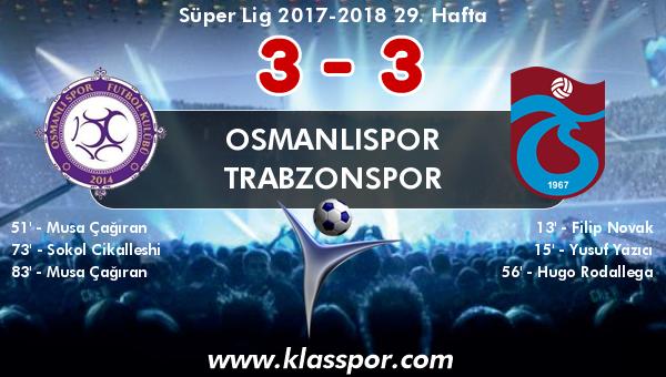 Osmanlıspor 3 - Trabzonspor 3