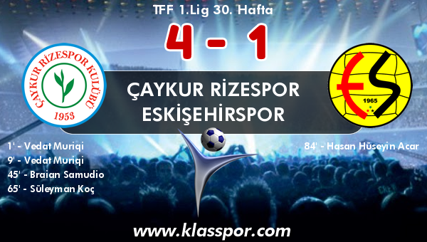 Çaykur Rizespor 4 - Eskişehirspor 1