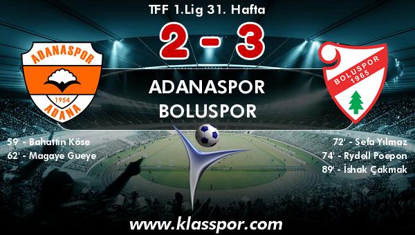 Adanaspor 2 - Boluspor 3