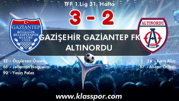 Gazişehir Gaziantep FK 3 - Altınordu 2