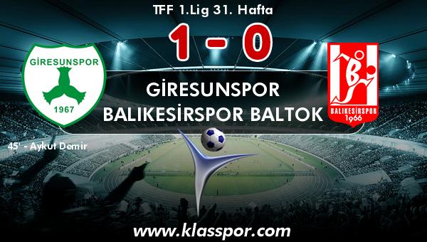 Giresunspor 1 - Balıkesirspor Baltok 0