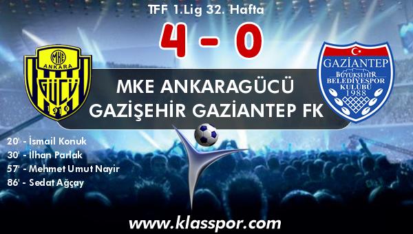 MKE Ankaragücü 4 - Gazişehir Gaziantep FK 0