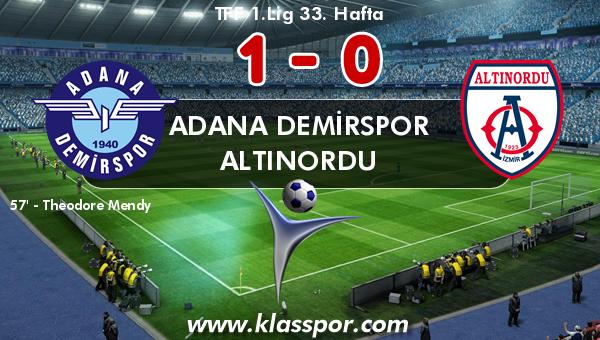 Adana Demirspor 1 - Altınordu 0