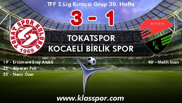 Tokatspor 3 - Kocaeli Birlik Spor 1
