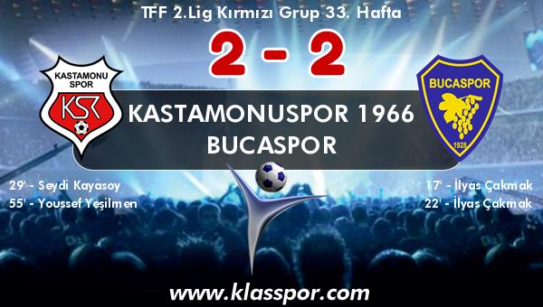 Kastamonuspor 1966 2 - Bucaspor 2
