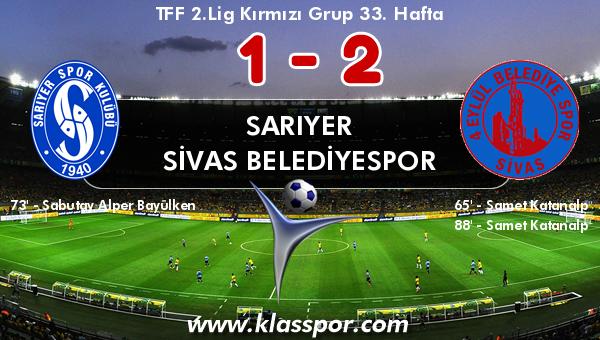 Sarıyer 1 - Sivas Belediyespor 2