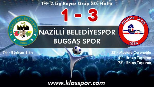 Nazilli Belediyespor 1 - Bugsaş Spor 3