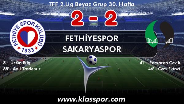 Fethiyespor 2 - Sakaryaspor 2