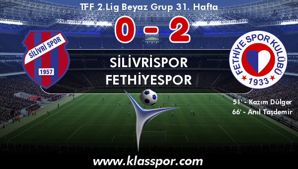 Silivrispor 0 - Fethiyespor 2
